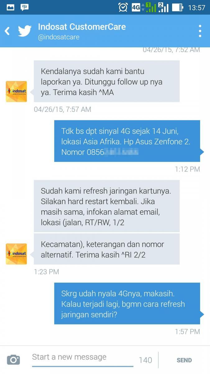 Indosat IM3 4G LTE Tidak Dapat Sinyal / Menghilang?